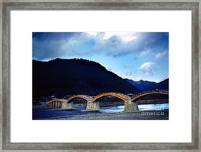 Kintai Bridge Japan Framed Print by Wernher Krutein