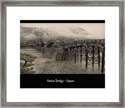 Kintai Bridge Framed Print by Kim Andelkovic