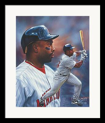 Twins Baseball Framed Prints