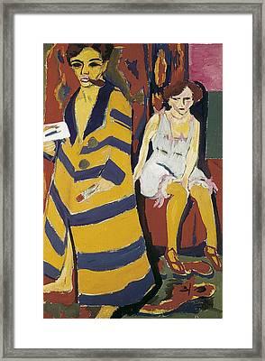 Kirchner, Ernst Ludwig 1880-1938 Framed Print by Everett