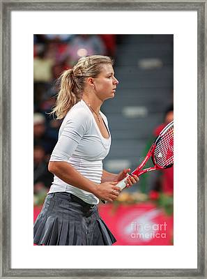 Kirilenko In Doha Framed Print by Paul Cowan