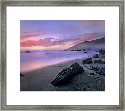 Kirk Creek Beach, Big Sur, California Framed Print