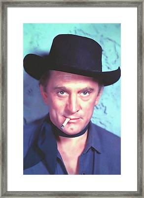Kirk Douglas In Man Without A Star Framed Print by Art Cinema Gallery