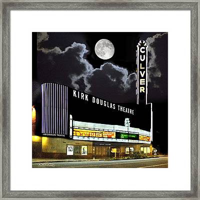 Kirk Douglas Theatre Framed Print by Chuck Staley