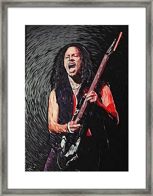 Kirk Hammett Framed Print by Taylan Apukovska