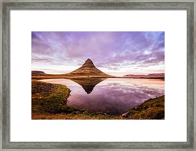 Kirkjufell At Sunset Framed Print