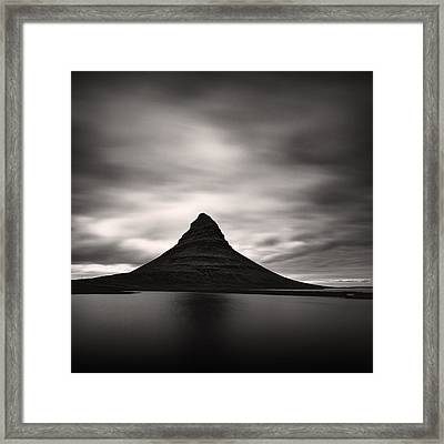 Framed Print featuring the photograph Kirkjufell I by Frodi Brinks