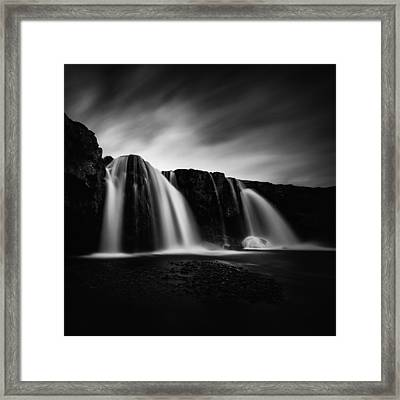 Framed Print featuring the photograph Kirkjufellsfoss by Frodi Brinks