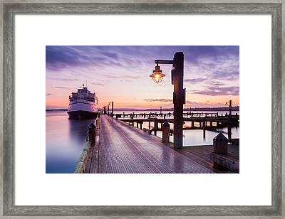 Kirkland Pier Framed Print