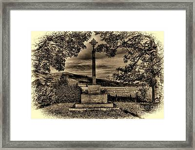 Kirknewton War Memorial Northumberland Framed Print