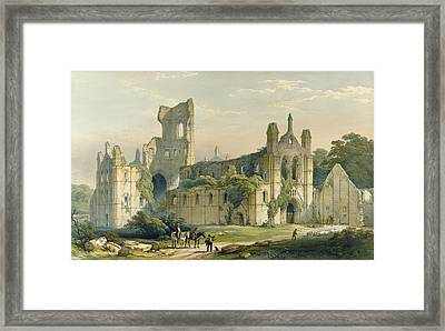 Kirkstall Abbey From The North West Framed Print by William Richardson