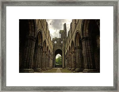 Kirkstall Abbey Framed Print by Pablo Lopez