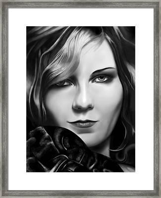 Kirsten Dunst Framed Print by Andrew Harrison