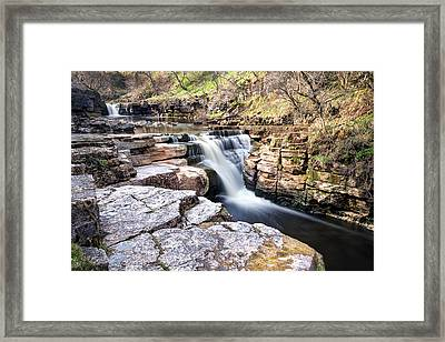 Kisdon Force Waterfall Framed Print by Chris Frost