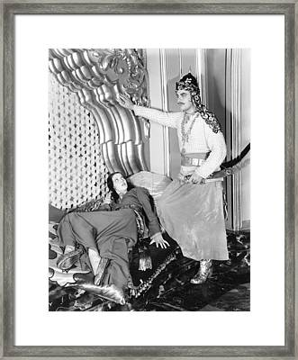 Kismet, From Left Loretta Young, Sidney Framed Print by Everett