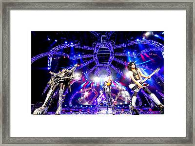Kiss - 40th Anniversary Tour Live - Simmons, Stanley, And Thayer Framed Print by Epic Rights
