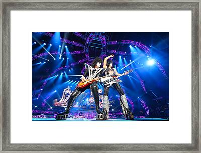 Kiss - 40th Anniversary Tour Live - Stanley And Thayer Framed Print by Epic Rights
