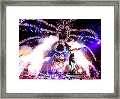 Kiss - 40th Anniversary Tour Live - Stanley Guitar Swing Framed Print by Epic Rights