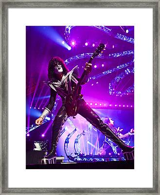 Kiss - 40th Anniversary Tour Live - Tommy Thayer Framed Print by Epic Rights