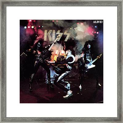 Kiss - Alive! Framed Print by Epic Rights