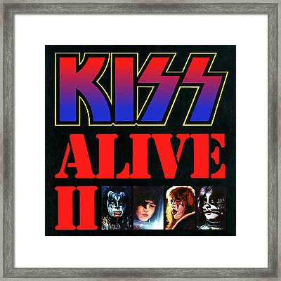 Kiss - Alive II Framed Print by Epic Rights