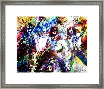 Kiss Art Print Framed Print