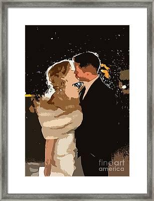 Kiss Framed Print by Catherine Lott