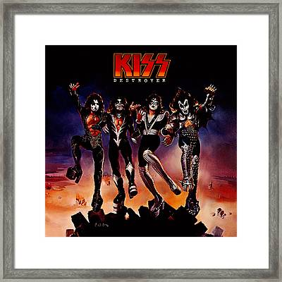 Kiss - Destroyer Framed Print by Epic Rights