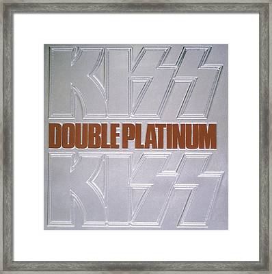 Kiss - Double Platinum Framed Print by Epic Rights