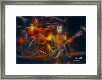 Kiss-gene-b36a-fractal-1 Framed Print