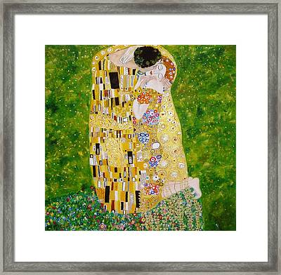 Kiss G.klimt Framed Print