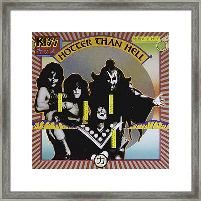 Kiss - Hotter Than Hell Framed Print by Epic Rights