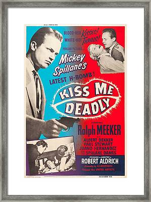 Kiss Me Deadly - 1955 Framed Print by Georgia Fowler