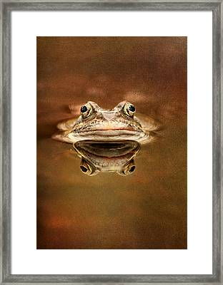 Kiss Me Framed Print by Heike Hultsch