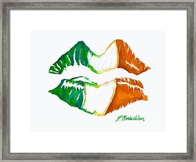 Kiss Me I'm Irish Framed Print by D Renee Wilson