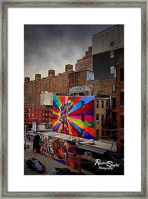 Kiss Me On The High Line Framed Print by Russell Styles