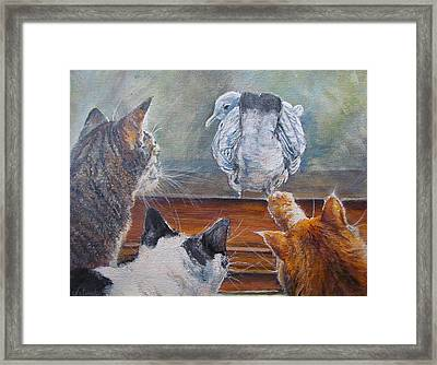 Kiss My Assssssss Framed Print by Donna Tucker