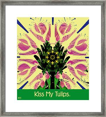 Kiss My Tulips Framed Print by Jim Pavelle