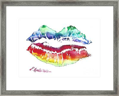 Kiss Of Color Framed Print by D Renee Wilson