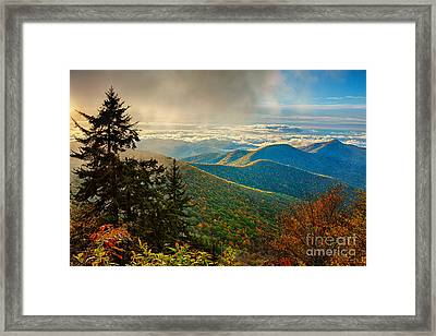 Kiss Of Sunshine - Blue Ridge Mountains I Framed Print by Dan Carmichael