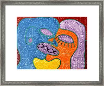 Kiss Framed Print by Patrick J Murphy