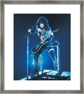 Kiss - Paul Stanley 1977 Framed Print by Epic Rights