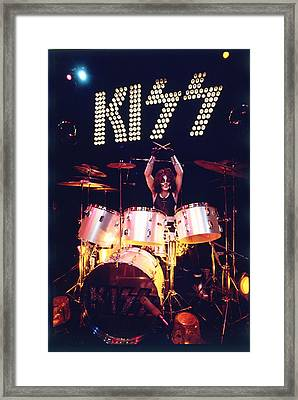 Kiss - Peter Criss 1973 Framed Print by Epic Rights