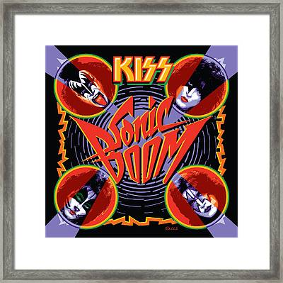 Kiss - Sonic Boom Framed Print by Epic Rights
