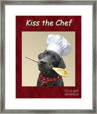 Kiss The Chef Framed Print