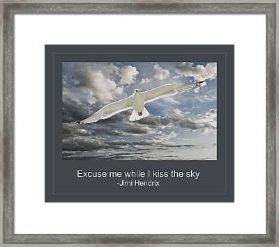 Kiss The Sky Framed Print