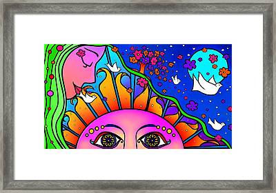 Kiss The Sun Framed Print