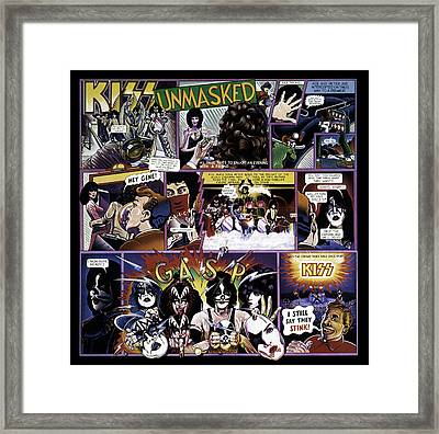 Kiss - Unmasked Framed Print by Epic Rights