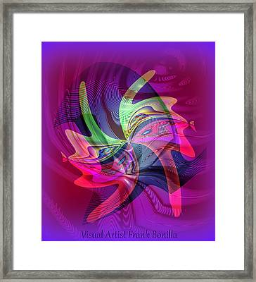 Kiss Framed Print by Visual Artist  Frank Bonilla