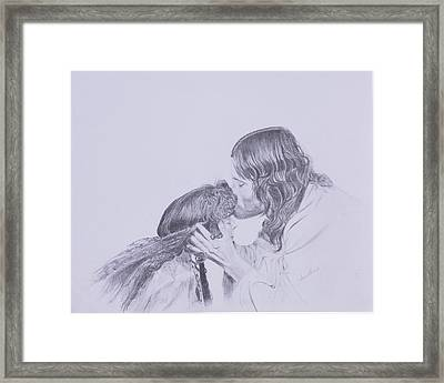 Kissed By Redemption From The Life Of Jesus Series Framed Print by Susan Harris